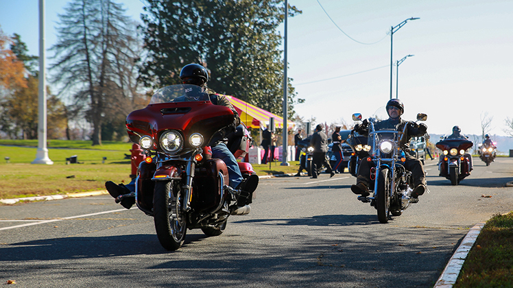 MCSC celebrates Corps' birthday with cake-cutting, toy donations and a motorcycle ride